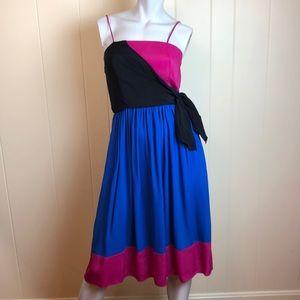 Vintage 70s/80s Color Block Disco Dress